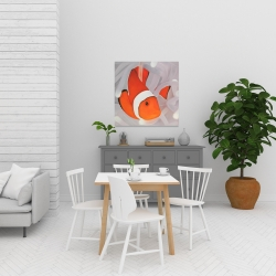 Canvas 24 x 24 - Clownfish under the sea