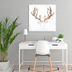 Canvas 24 x 24 - Wood looking deer head