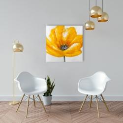 Canvas 24 x 24 - Beautiful yellow flower