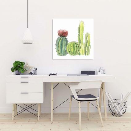 Quatre petits cactus