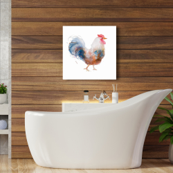 Canvas 24 x 24 - Watercolor rooster