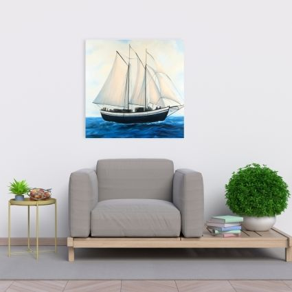 Sailingboat by a sunny day