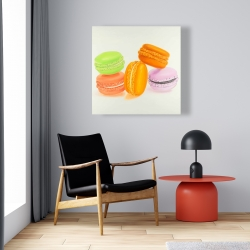 Canvas 24 x 24 - Small bites of macaroons