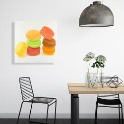 Canvas 24 x 24 - Delicious macaroons