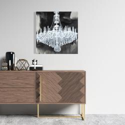 Canvas 24 x 24 - Glam chandelier
