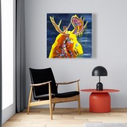 Canvas 24 x 24 - Colorful moose