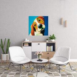 Canvas 24 x 24 - Colorful beagle dog