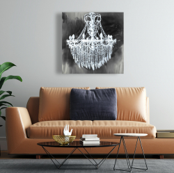 Canvas 24 x 24 - Big glam chandelier