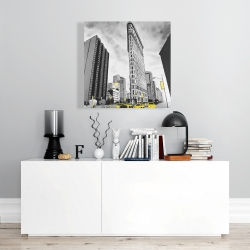 Canvas 24 x 24 - Outline of flatiron building to new-york
