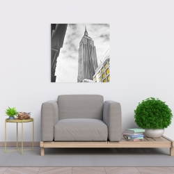 Canvas 24 x 24 - Outline of empire state building