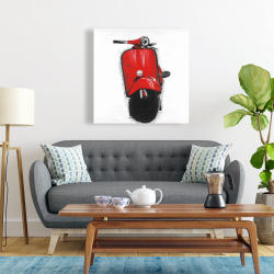 Canvas 24 x 24 - Red italian scooter