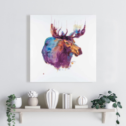 Canvas 24 x 24 - Abstract moose
