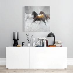 Canvas 24 x 24 - Herd of wild horses