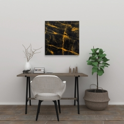 Canvas 24 x 24 - Black and gold marble texture
