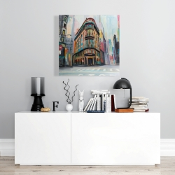 Canvas 24 x 24 - Building architecture in new-york