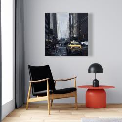 Canvas 24 x 24 - New york in the dark