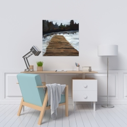 Canvas 24 x 24 - Dock and lake