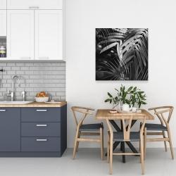 Canvas 24 x 24 - Monochrome tropicals leaves