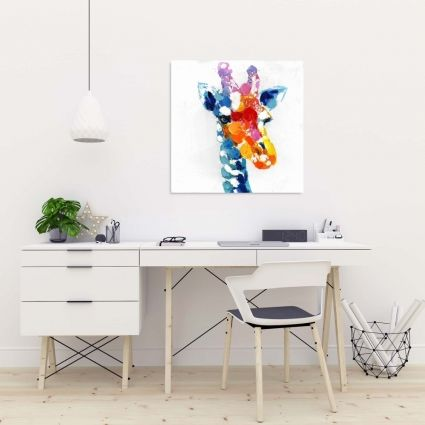 Color spotted abstract giraffe