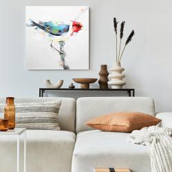 Canvas 24 x 24 - Colorful woodpecker
