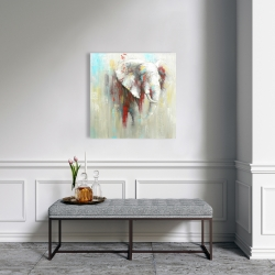 Canvas 24 x 24 - Abstract elephant with paint splash