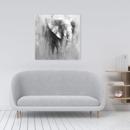 Abstract grayscale elephant