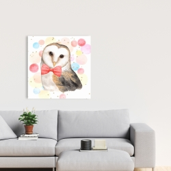 Toile 24 x 24 - Chic hibou