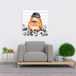 Canvas 24 x 24 - Guinea pig detective