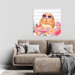 Canvas 24 x 24 - Guinea pig with glasses