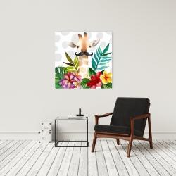 Canvas 24 x 24 - Exotic giraffe