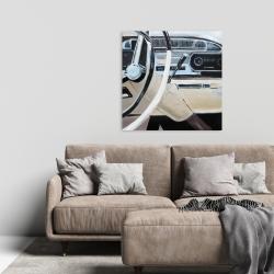 Canvas 24 x 24 - 1950s car dashboard