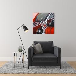 Canvas 24 x 24 - Vintage red car dashboard