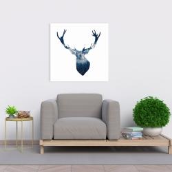 Canvas 24 x 24 - Deer head landscape