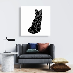 Canvas 24 x 24 - Geometric fox