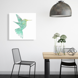 Canvas 24 x 24 - Geometric hummingbird