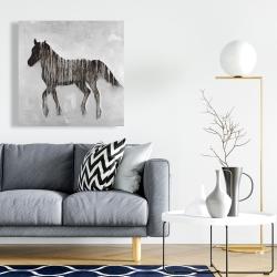 Canvas 24 x 24 - Gambading abstract horse