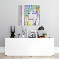 Canvas 24 x 24 - Abstract colorful portrait