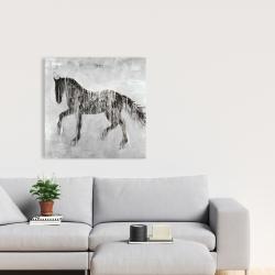 Canvas 24 x 24 - Horse brown silhouette