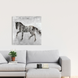 Canvas 24 x 24 - Horse brown silhouette