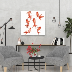 Canvas 24 x 24 - Small red fishes