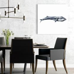 Canvas 24 x 24 - Watercolor whale