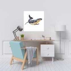 Canvas 24 x 24 - Watercolor blue whale