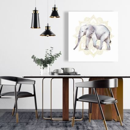Elephant on mandalas
