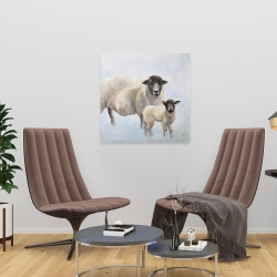 Canvas 24 x 24 - Sheep and its baby