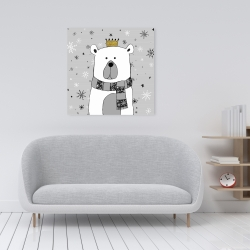 Canvas 24 x 24 - Beautiful bear