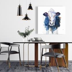 Toile 24 x 24 - Vache à l'aquarelle
