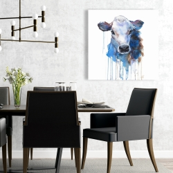 Canvas 24 x 24 - Watercolor jersey cow