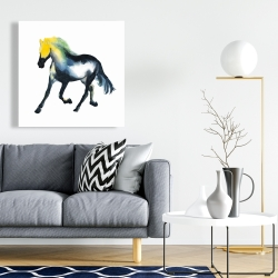 Canvas 24 x 24 - Galloping colorful horse