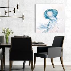 Canvas 24 x 24 - Jellyfish moving