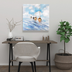 Canvas 24 x 24 - Sailboats in the sea